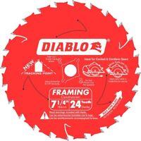 "Freud Tools D0724A 7-1/4"" x 24 Tooth Framing Saw Blade (Diablo Series)"