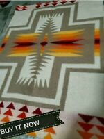 "PENDLETON WOOLEN MILL BLANKET WT.WOOL""REMNANT""FABRIC  CHIEF JOSHPH NEW LARGE PC."