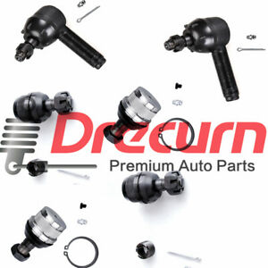 6PC Outer Tie Rod Rods Ends Ball Joints SET For 72-86 Jeep CJ5 CJ7 CJ8 3
