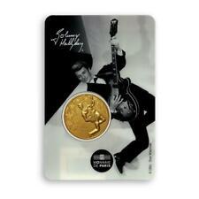 Blister Johnny Hallyday Blister Médaille Guitare Monnaie de Paris 4317 ex RARE
