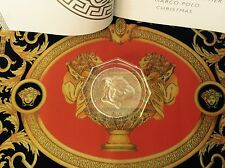 VERSACE MEDUSA SET OF 2 COASTER PAPERWEIGHT LUMIERE ROSENTHAL NEW SALE !!!