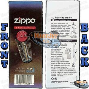 Genuine 6 ZIPPO FLINTS with Dispenser Brand New Lighter Flint Stones Replacement