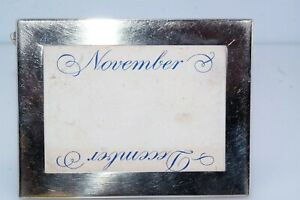Tiffany Makers Sterling Silver Picture Frame Miniature d1962