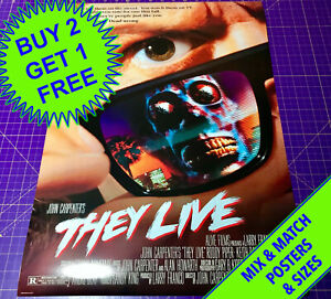 THEY LIVE (1988)  •  A5 - A2 SIZE  •  POSTER PRINT
