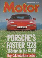 Motor magazine 20/8/1988 featuring Porsche 928S4 SE, Mitsubishi Colt GTi, Bitter