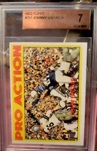 1972 Topps Johnny Unitas Pro Action #251 EX+ Vintage Football Cards