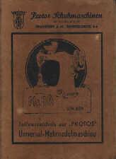 FRANKFURT/M., Katalog, Protos Schuh-Maschinen 604, W. Ullrich KG Näh-Maschinen