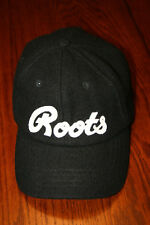 Roots Athletics Sporting Goods Black Wool Claspback Baseball Cap Hat - Canada