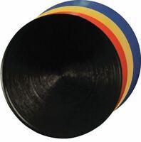 """Crown Green Bowls Non Slip Footer Mats Mat YELLOW Circular Rubber 5.5"""" inch"""