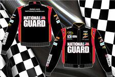 "Dale Earnhardt Jr Nascar Jacket National Guard Black Red Cotton Twill ""BLOWOUT"""