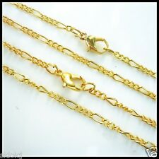 """Lots of 5PCS Gold Plated Fine Chain Necklace With Clasp 22""""X-G"""
