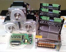 Cnc Mill 4 axis NEMA34 PC Micro step motor Kit 4.5N with 720w power supply