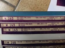 n°e611 lot 3 microfiche mercedes ML w163