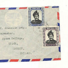 AD51 Commonwealth Covers 1961 BRUNEI Commercial Airmail Cover Epsom College