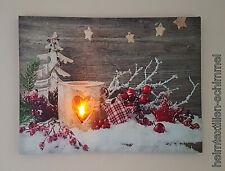LED Bild Wandbild Wandekoration Leuchtbild Leinwandbild Beleuchtung Deko 40x30cm