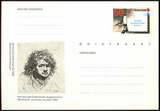 Netherlands 1984 Rembrandt 50c Stationery Postal Card Unused #C36214