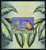 St Vincent & Grenadines 2018 MNH Colorful Birds of World Parrots 1v S/S Stamps