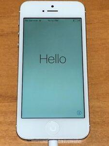 Apple iPhone 5 - 32GB - Unlocked - White & Silver (Sprint) A1429 (CDMA + GSM)