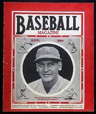 Baseball Magazine - 1935 August - Bob Johnson Philadelphia Cover - Carl Hubbell