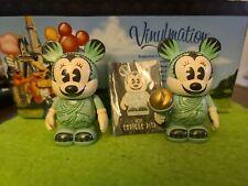"Disney Vinylmation 3"" Park Set 1 Minnie Mouse Statue of Liberty Lot of 2"