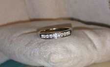 designer 10k White Gold Diamond wedding- Anniversary Band ring $475