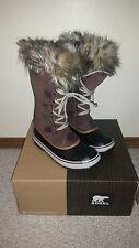 NIB Sorel Joan of Arctic Fur Winter Snow Boots Shoes Tobacco Sudan 7 Sold Out