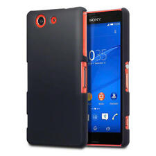 Terrapin Solid Black Slim Armour Rubberised Back Cover for Sony Xperia Z3 Compac
