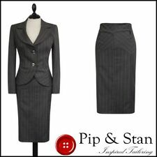 Knee Length Striped Regular Size Suits & Tailoring for Women