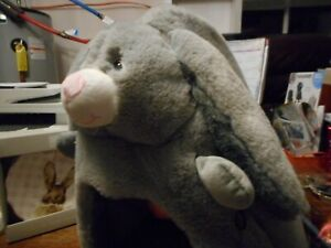 New w/tags NANDOG Gray Easter Bunny Rabbit MICRO PLUSH DOG CAT Cave BED