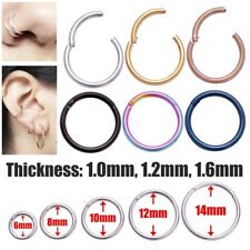1pc Surgical Steel Hinge Septum Segment Nose Piercing Ear Helix Tragus Ring Hoop