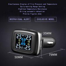 Coche TPMS sin hilos neumático presión LCD Monitoreo sistema + 4 sensore externo