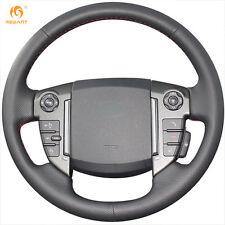 Black Leather Steering Wheel Cover for for Land Rover Freelander 2 2013-2015