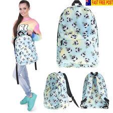Women 3D Panda Backpack Travel Rucksack School College Student Bag Handbag Tote