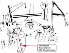 Fits 68 69 70 CONVERTIBLE Roadrunner GTX Coronet R/T Door Glass Window Channel