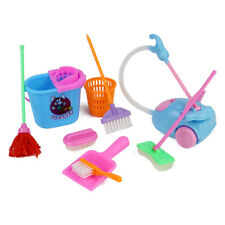 9pcs/Set Cute Mini House Cleaning Mop Broom Tools Pretend Play Kid Kitchen Toy