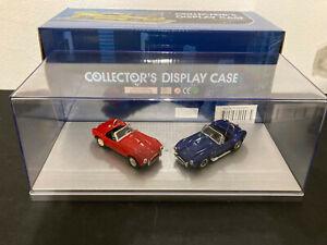 1/43 lot 2 Shelby Cobra 427 Kyosho et Model box TBE + boite vitrine 100% neuve