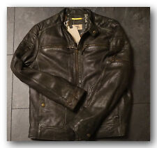 Details zu CAMEL ACTIVE 5310 Leather Jacket Lederjacke Herren Black Gr.48 NEU mit ETIKETT
