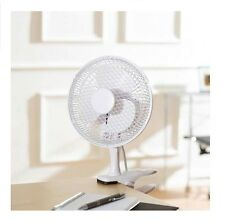 """6"""" inch Small 2 IN 1 Clip On Desk Portable Fan Air Cooling Home Office Table"""