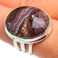 Large Crazy Lace Agate 925 Sterling Silver Ring Size 8.25 Ana Co Jewelry R45809F