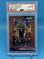 2018-19 Panini Prizm Kawhi Leonard Ruby Red Wave PSA 10 GEM MINT Spurs Clippers