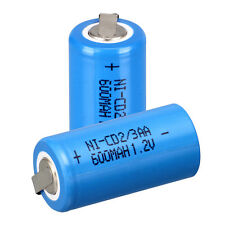 2PCS 2/3AA 1.2V 600MAH NI-CD Rechargeable Battery Blue