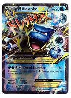 Blastoise 18/83 Gold Mega EX Card Pokemon Collection Plastic Card Free 2 EX