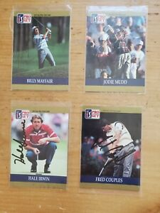 Set of 14 Autographed PGA Golf Cards and a Full Set 1991