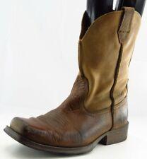Ariat Boots Sz 8 D Brown Square Toe Cowboy Leather Men