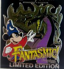 DISNEY FANTASMIC 25TH ANNIVERSARY SORCERER MICKEY/ MALEFICENT as DRAGON LE  Pin