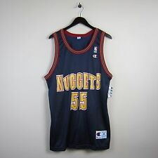 NWT Vtg Champion Size 44 Adult NBA Denver Nuggets #55 Mutombo Graphic Jersey