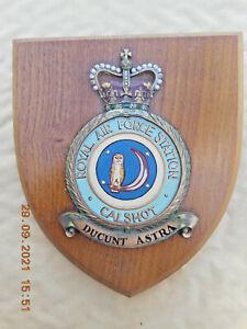 RAF/ROYAL AIR FORCE STATION  CALSHOT     WALL PLAQUE/ CREST / SHIELD
