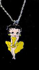 Yellow Sexy Ohh LaLa Dress Betty Boop Chained charm Necklace
