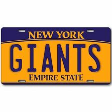 New York Giants Football Team Prop Replica Aluminum License Plate Tag New Cool!