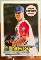 2018 Topps Heritage Minors Jordan Humphreys Real One Blue Ink Auto Autograph